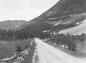 Battle of Dombås - The road near Ulekleiv