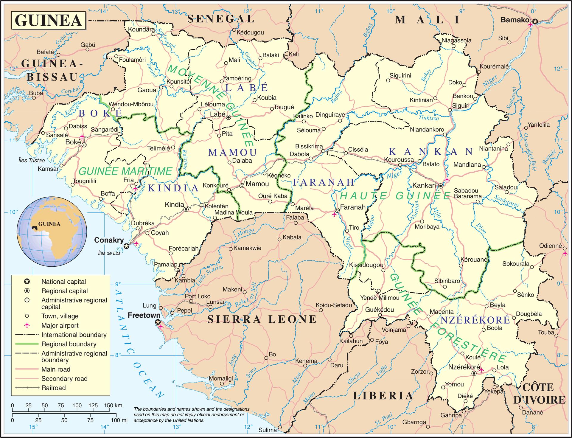 Map of Guinea (Source » Wikimedia)