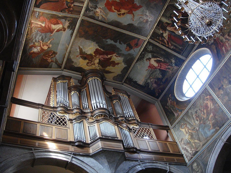 Unionskirche Idstein organ and ceiling