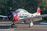 United States Air Force T-28 Trojan warbirds (55-138354) at Kleine Brogel Air Base in 2014.jpg