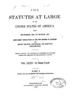 United States Statutes at Large Volume 34 Part 2.djvu