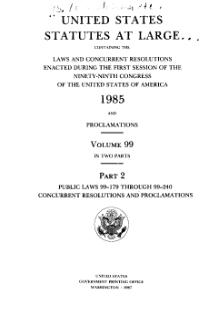 United States Statutes at Large Volume 99 Part 2.djvu