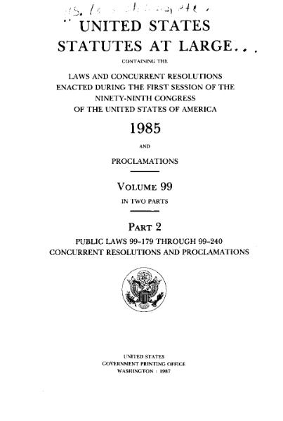 File:United States Statutes at Large Volume 99 Part 2.djvu