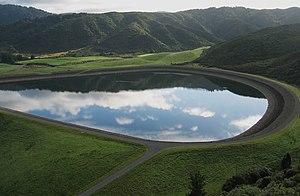Kaitoke - The upper Stuart Macaskill reservoir.
