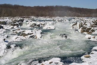 Great Falls of the Potomac River im Winter
