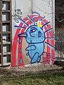 Uzávěr Rokytky, graffiti, nachlazený pták.jpg