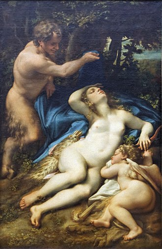 Antiope of Thebes - Terrestrial Venus traditionally called Jupiter and Antiope, by Correggio (Louvre Museum)