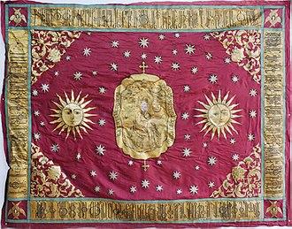 Vakhtang VI of Kartli - Vakhtang VI's royal banner featuring the biblical king David, a reference to a Bagratid claim of Davidic origin.