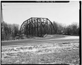 VIEW OF BRIDGE, LOOKING SOUTH-SOUTHEAST - Lynch Bridge, Spanning Black River at River Road, Levis, Jackson County, WI HAER WIS,10-LEV,1-2.tif