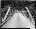 VIEW OF NORTH PORTAL - North Carolina Route 1417 Bridge, Spanning Dan River, Danbury, Stokes County, NC HAER NC,85-DANB.V,1-3.tif