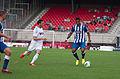 Valais Cup 2013 - OM-FC Porto 13-07-2013 - Morgan Amalfitano et Alex Sandro.jpg