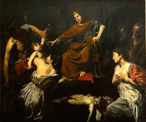 Valentin de Boulogne, Judgment of Solomon 02
