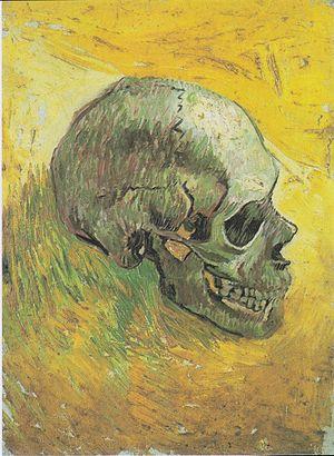 Skull of a Skeleton with Burning Cigarette - Image: Van Gogh Schädel 1