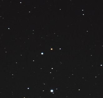 U Orionis - U Orionis in the center of the image at approx visual mag. 12 on February 5th 2017