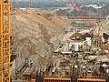 Vehicle plunges into Folsom Dam spillway construction site (9417663235).jpg