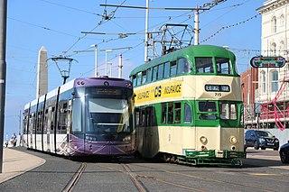 Blackpool Tramway Light rail transit system in Lancashire, England