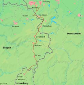 Strecke der Vennbahn