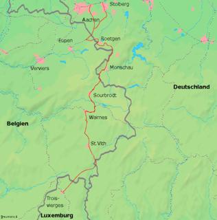 Vennbahn railway line in Belgium