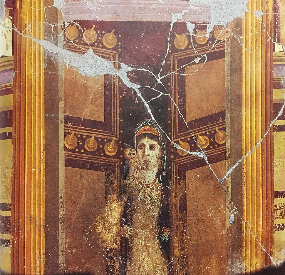 Venus and Cupid from the House of Marcus Fabius Rufus at Pompeii, most likely a depiction of Cleopatra VII (5)