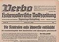 Verbo - Hohenzollerische Volkszeitung - Sigmaringer Kreiszeitung (Donaubote) vom 14. Oktober 1939 aus Sigmaringen.jpg