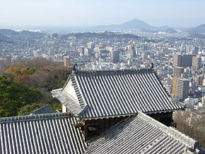 View from Matsuyama castle tower(Iyo).JPG