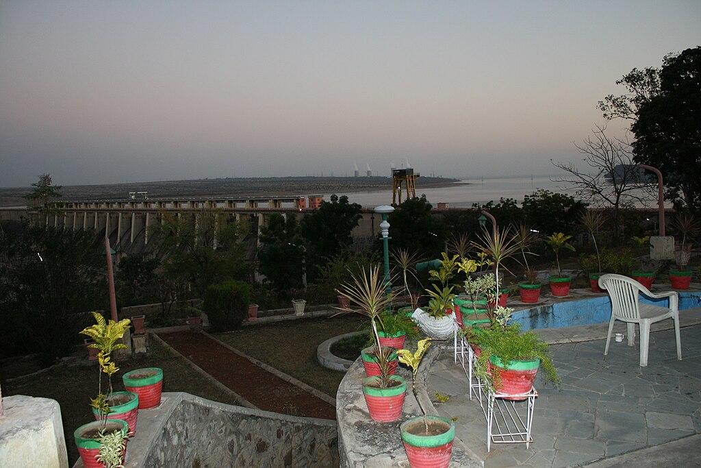 View from recreational area of RANA PRATAP SAGAR DAM