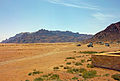 View into Wadi Rum and Jabal Ram from visitors' center.jpg