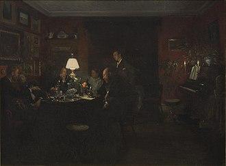 Viggo Johansen - Image: Viggo Johansen Aftenpassiar 1886