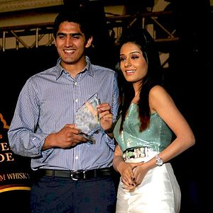 Vijender Singh with Amrita Rao