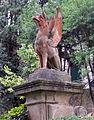 Villa capponi, giardino all'italiana 16 grifone.JPG