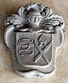 Villa il palagio di san casciano, cortile, stemma cappello+1.JPG