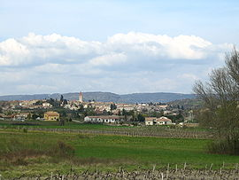 A general view of Villeneuve-de-Berg