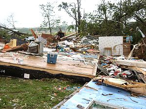 2011 Super Outbreak - Remains of a mobile home that was destroyed by the Vilonia tornado.