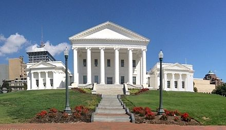 Virginia State Capitol, designed by Jefferson (wings added later) Virginia State Capitol Building.jpg