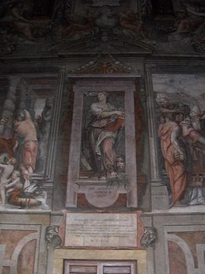 Sala dei Cento Giorni - Image: Virtue Sala dei Cento Giorni Giorgio Vasari 1547 Palazzo della Cancelleria