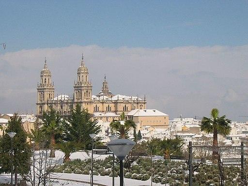 Vista lejana Catedral de Jaen