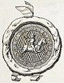 Vitaŭt Vialiki, Pahonia. Вітаўт Вялікі, Пагоня (K. Kielisiński, 1385, 1841).jpg