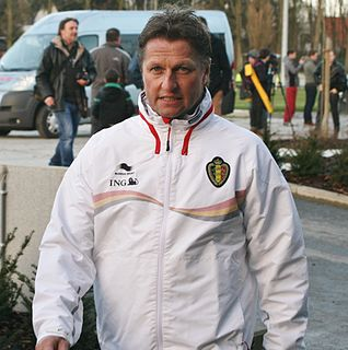 Vital Borkelmans Belgian football coach and former player