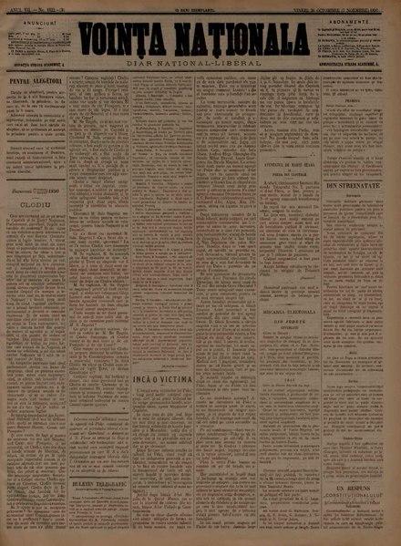 File:Voința naționala 1890-10-26, nr. 1822.pdf