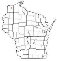 Location of Hawthorne, Wisconsin