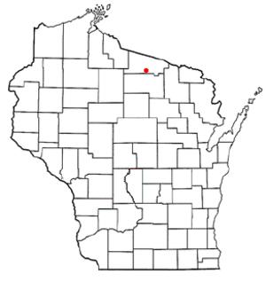 St. Germain, Wisconsin - Image: WI Map doton St Germain
