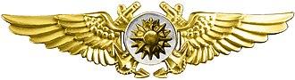 Marine Aerial Navigator insignia - Image: WWII Navy Nav