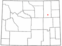 Location of Wright, Wyoming
