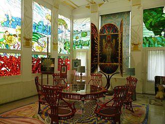 Ernst Fuchs (artist) - Image: Wagner Villa interior