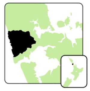 Waitakere (New Zealand electorate) - Image: Waitakere electorate 2008