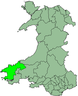 Former government district in Wales