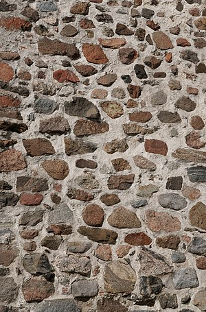 English: Wall of church of Naantali.