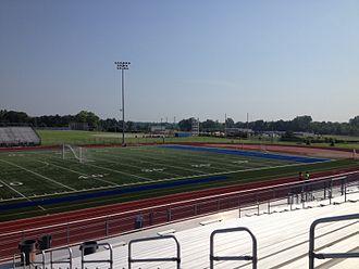 Walled Lake Western High School - Warrior Stadium in the summertime.