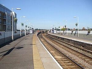 Wanstead Park railway station - Image: Wanstead Park stn look west