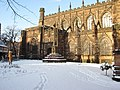 War memorial at Chester cathedral in the snow - geograph.org.uk - 1660542.jpg